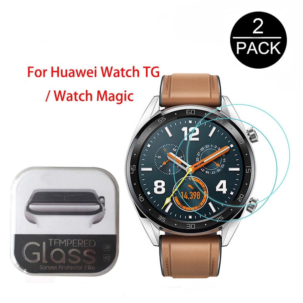Para huawei relógio tg relógio inteligente 0.3mm 2.5d 9h claro protetor de tela de vidro temperado anti-scratch smartwatch filme para honra magia
