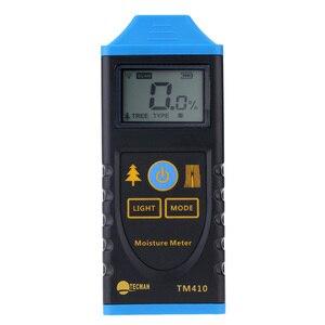 Fast arrival TM410  Digital Wood Moisture Meter Test Probe Humidity Tester Wood Moisture Analyzers LCD Backlight Display