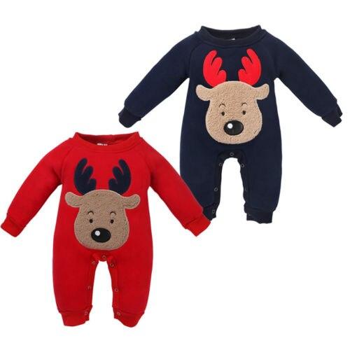 Cjristmas recién nacido Infante chico bebé niña ropa Navidad ciervo algodón Casual Popular o-cuello mono Romper trajes Pijamas