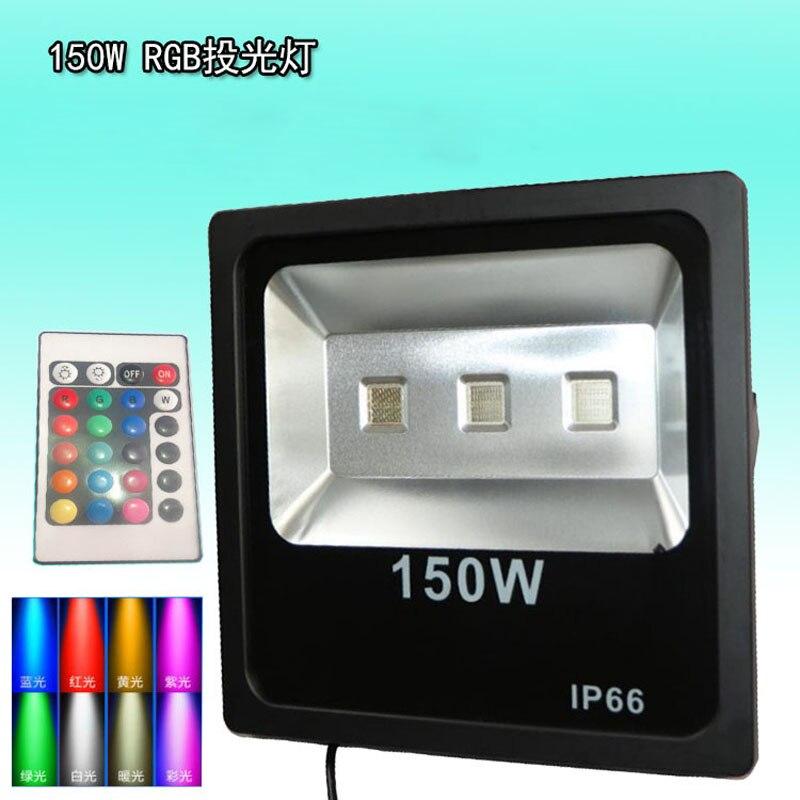 Foco LED impermeable para exteriores, reflector RGB de 100W, 150W, 200W, Control...