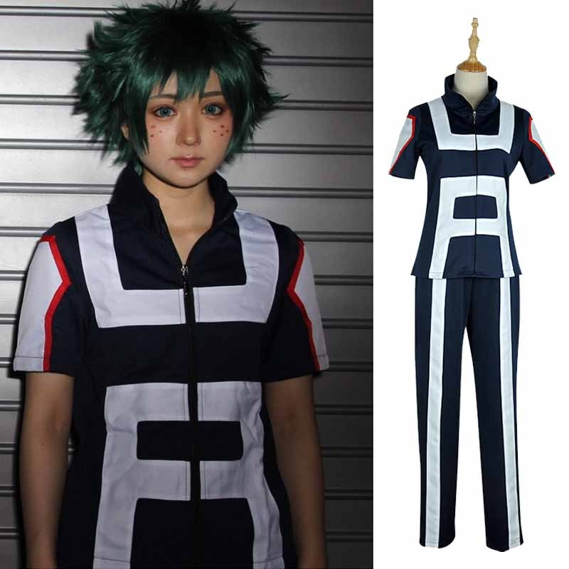 Anime Boku no Hero Academia Bakugou Katsuki/Iida Tenya/Todoroki Shouto Cosplay Costume My Hero Academia Sportswear Top+Pants