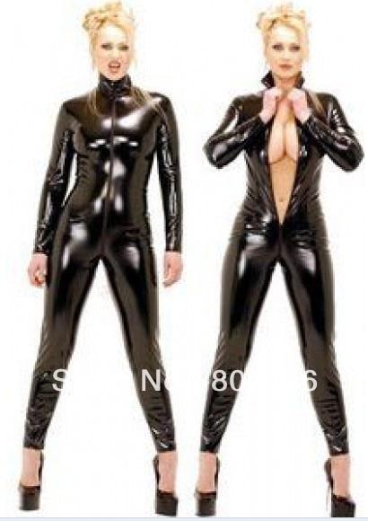 Envío Gratis 9066 Sexy negro erótico Punk gótico de Bikini parte inferior cadena bikini Bustier de Catsuit plus tamaño s-3xl