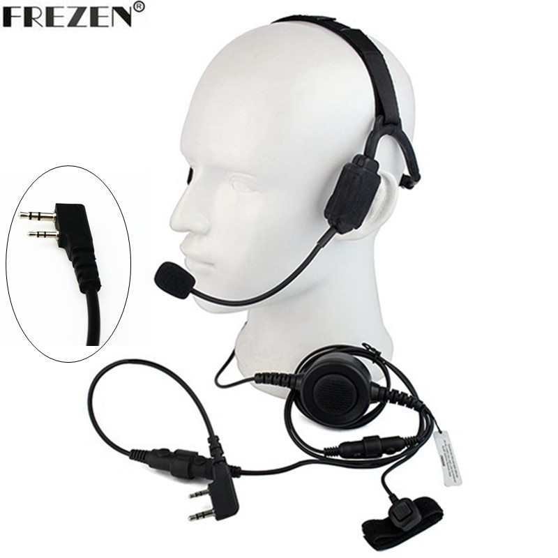AliExpress - Walkie talkie Military Bone Conduction Tactical Headset boom Mic For Kenwood Portable Radio Baofeng UV-5R BF-888S UV-82 GT-3