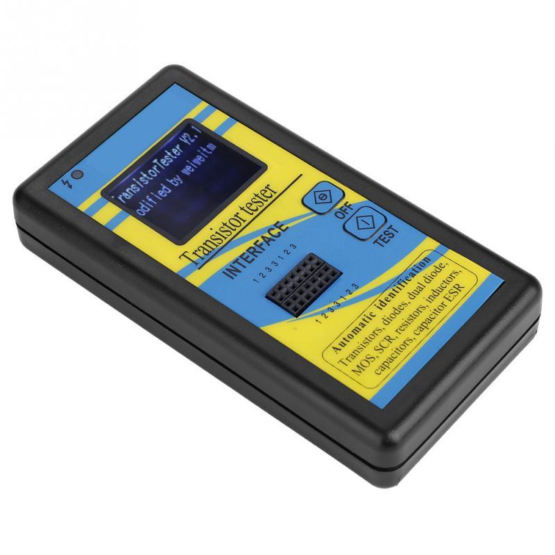Probador de Transistor M328 0,1-50 con medidor ESR de capacitancia de diodo de pantalla LED herramienta de medición multifunción