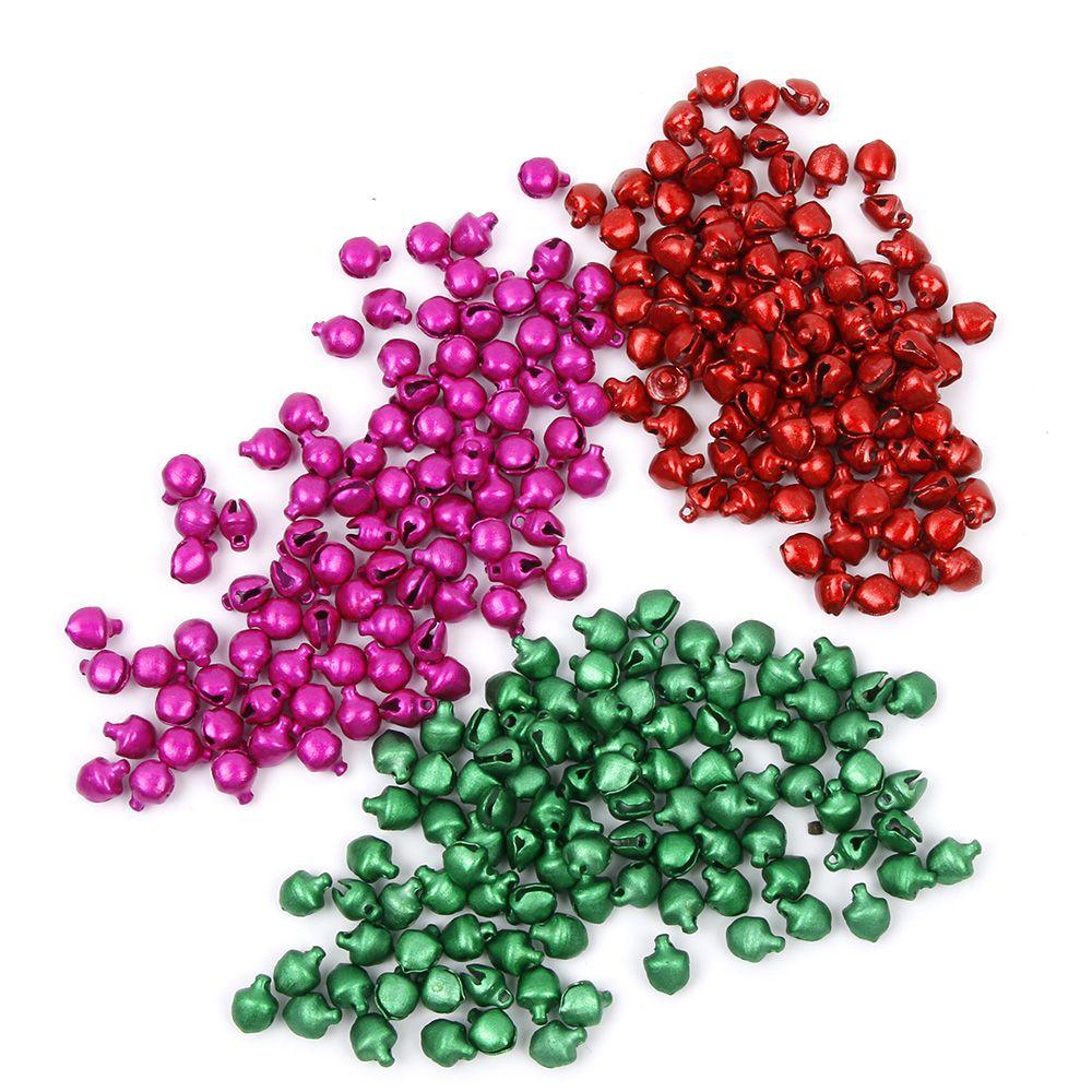 100 Pcs/Lot Neue Weihnachten Glocken 3 Farben Lose Perlen Kleine Jingle Bells Weihnachten Dekoration Geschenk Weihnachten Lieferungen