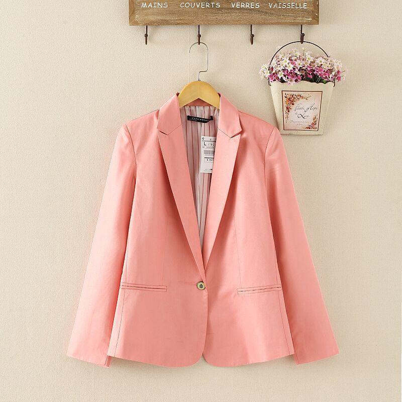 NOWY blazer kobiety kostiumu blezer składana marka kurtka wykonana z bawełny i elastanu z podszewką Vogue odśwież blazers 12