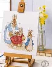 Collection dor 11/14/16/18/28   Kit de point de croix mignon, lapin à compte, Peter Flopsy, Mopsy, coton, lièvre lapin et bébés