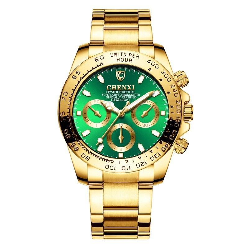 Роскошные мужские часы от топ бренда, модные золотые кварцевые аналоговые часы, мужские наручные часы, деловые, мужские наручные часы, Relogio ...
