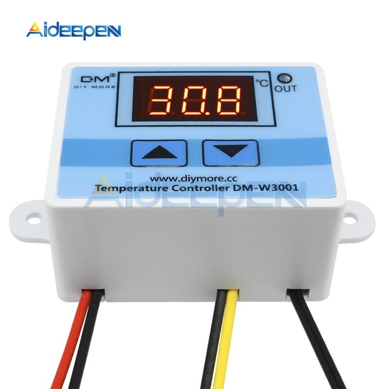 W3001 W3002 Dc 12v 24v Ac 110 220v Led Digital Temperature Controller Thermostat Thermoregulator Sensor Meter Heating Cooling Aliexpress