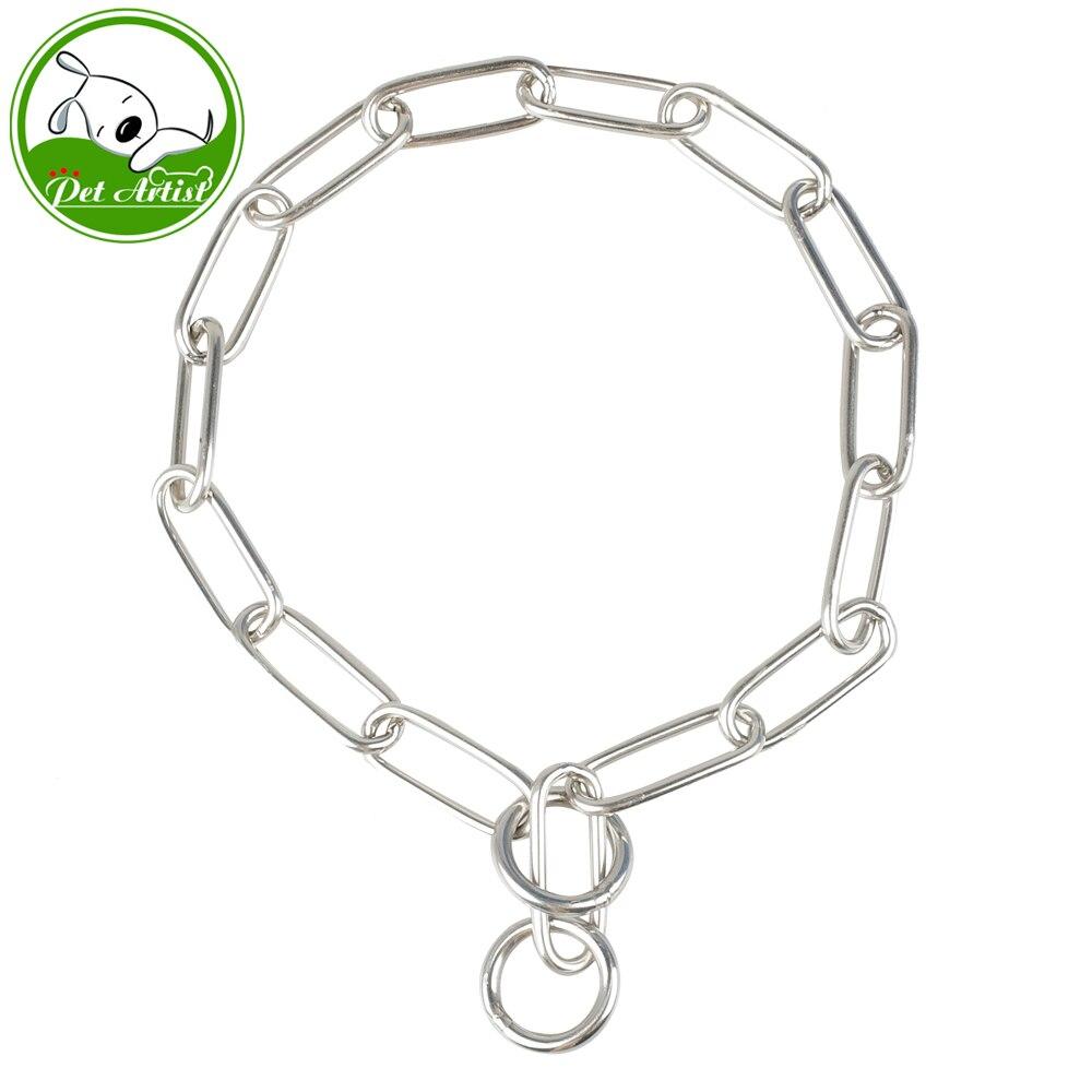 Nuevo diseño de collares de entrenamiento de perro P Chock Chain nueva marca