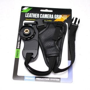 10pcs/lot camera  Black small triangle Leather Soft Wrist Hand strap for Canon Nikon Sony SLR/DSLR