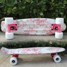 Peny planche skateboard enfant complet rétro Cruiser Mini Floral Longboard Skate poisson longue planche skate roue planche 22 pouces roues