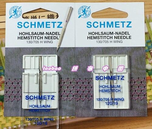 Máquina de costura schmetz hemstitch/agulha, tamanho 120/19 100/46 para máquina de costura para singer juki brother bernina pfaff janome