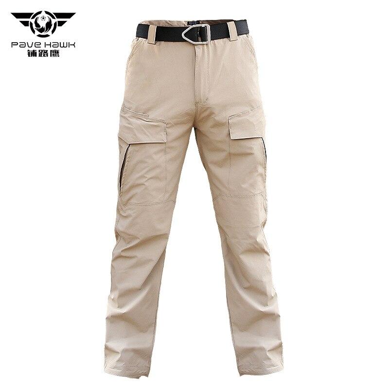 Verano delgado de secado rápido para hombres pantalones tácticos militares pantalones de combate SWAT ejército Militar pantalones para hombre Pantalones de carga Casual para mujer
