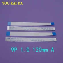 5pcs/lot Type A 12cm 120mm FFC FPC 9pin 1.0 pitch Flat Ribbon Flex Cable 9 pins 20624 AWM 80C VW-1 60V Power Button