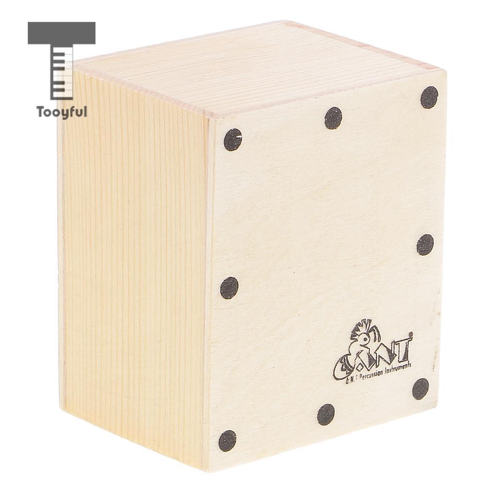 Mini agitador de arena de Cajon Durable Tooyful tambor de mano de madera para accesorio de acompañamiento de banda DIY 6,5x5,2x4,3 cm
