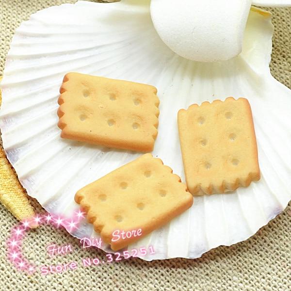 Leuke hars imation cookies Cabochon plat decoratie gratis 50 stks/partij 18mm
