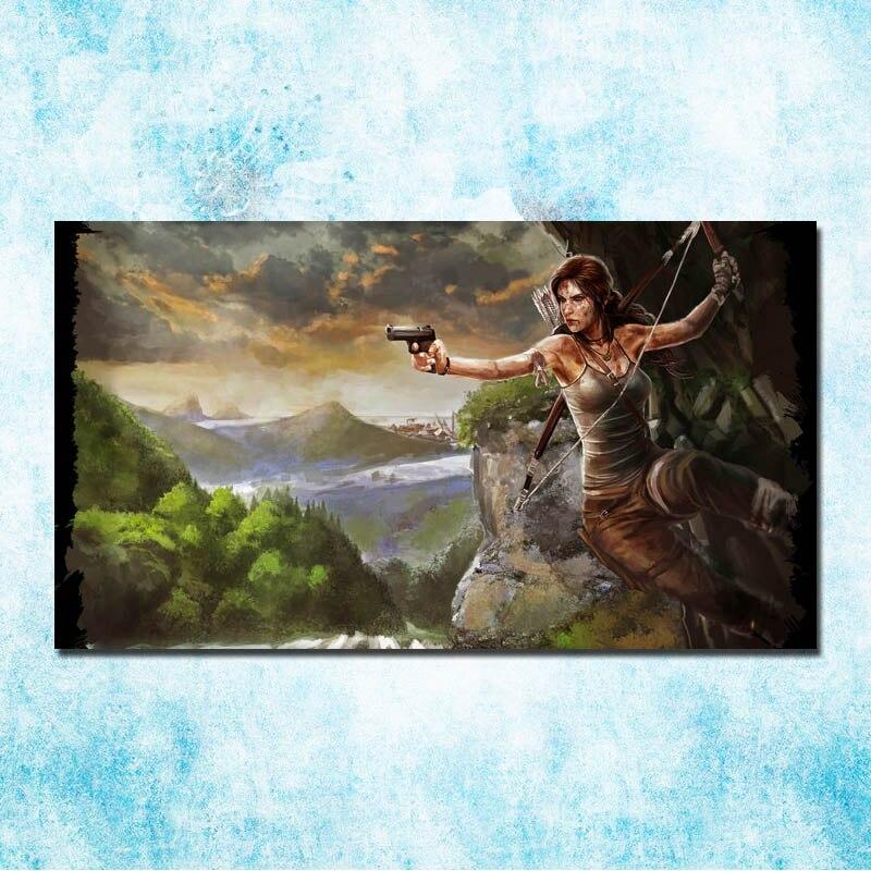 Tomb Hot Game arte seda póster lienzo impresión 13x24 24 24x43 pulgadas-003