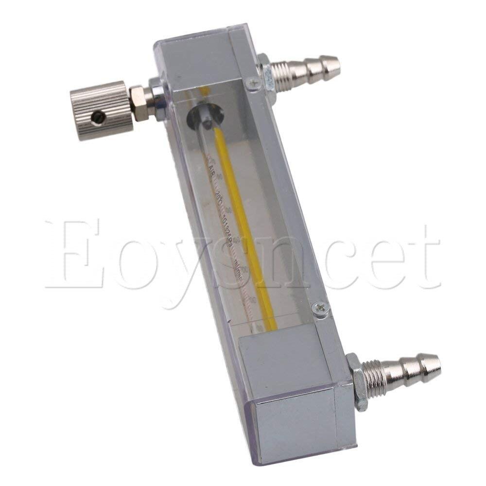 """Caudalímetro de oxígeno y Gas modelo LZB-3 60-600 ml/min con válvula de Control y rosca de manguera de 3/10"""""""