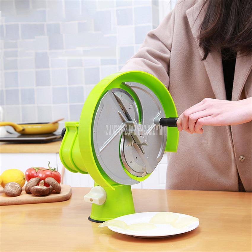0.2-8mm Manual Fruit Slicing Machine Lemon Potato Vegetable Round Slicer Phopper Cutter Commercial/Household Use Kitchen Gadgets
