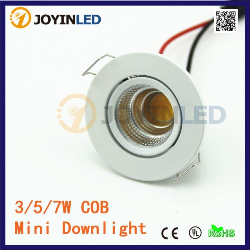 2015 Новый 3W COB мини светодиодные прожекторы AC85-260V вниз