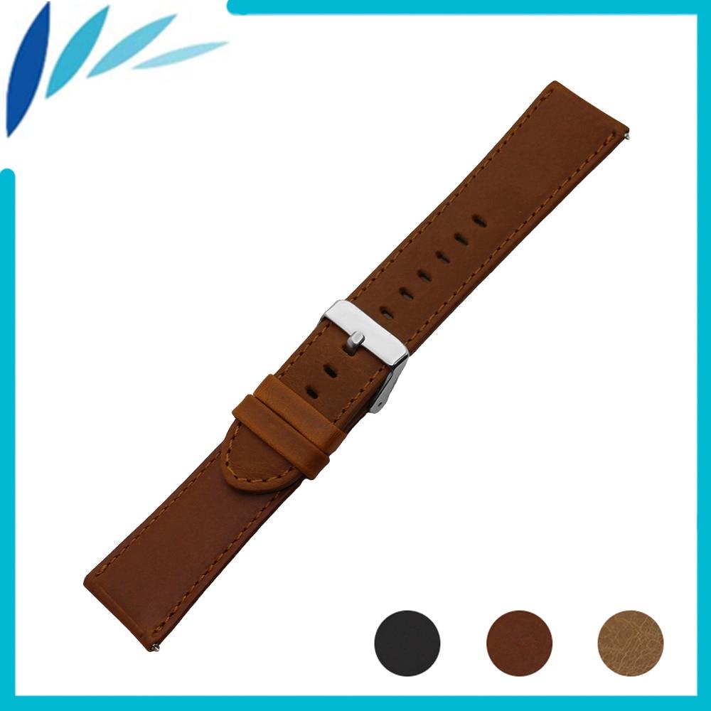 Genuine Leather Watch Band for Diesel Watchband 22mm Men Women Quick Release Strap Wrist Loop Belt Bracelet Black Brown + Pin