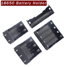 ABS 18650 support Pin dur 1X2X3X18650 batterie support Batteries 18650 boîtier batterie externe rechargeable