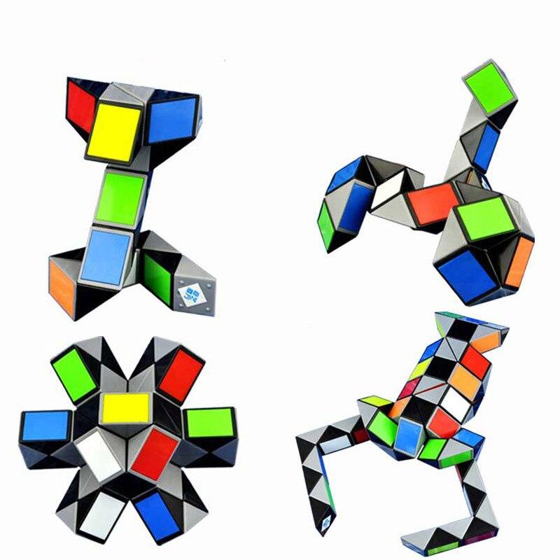 Cubo de regla mágico 3D colorido caliente 24/36/48/72 segmentos cubo mágico Twist Cube Puzzle chico juguetes educativos para niños