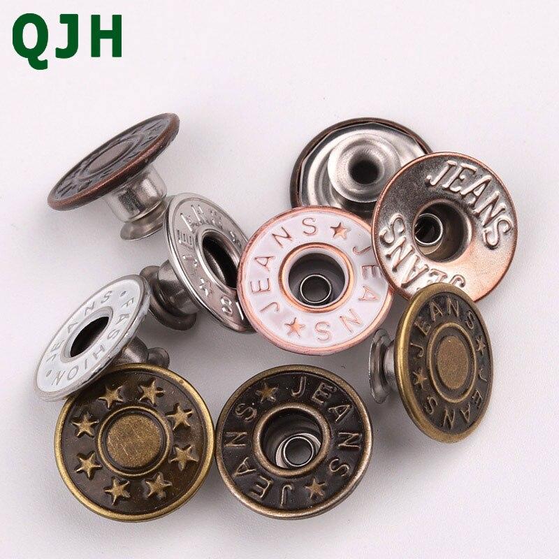 20 unids/set 17mm QJH botones de Metal de alta calidad con herramientas de ajuste/botones de almacenamiento de Jeans DIY accesorios de costura para chaquetas/Jeans