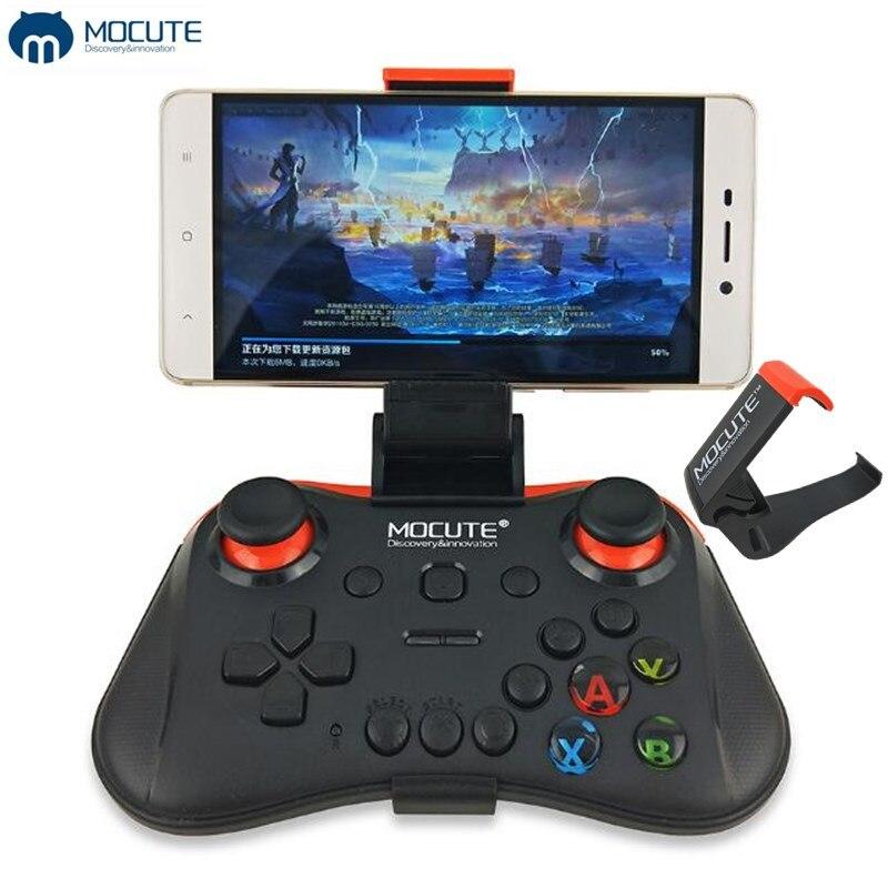 Mocute 056 Bluetooth Gamepad Mobile Joypad Android Joystick Wireless VR Controller Smartphone Tablet PC Phone Smart TV+Holder