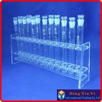 Lab 10mlx12 Colorimetric Organic Glass Nessler Tube Rack+12 pieces 10ml Glass colorimetric tube
