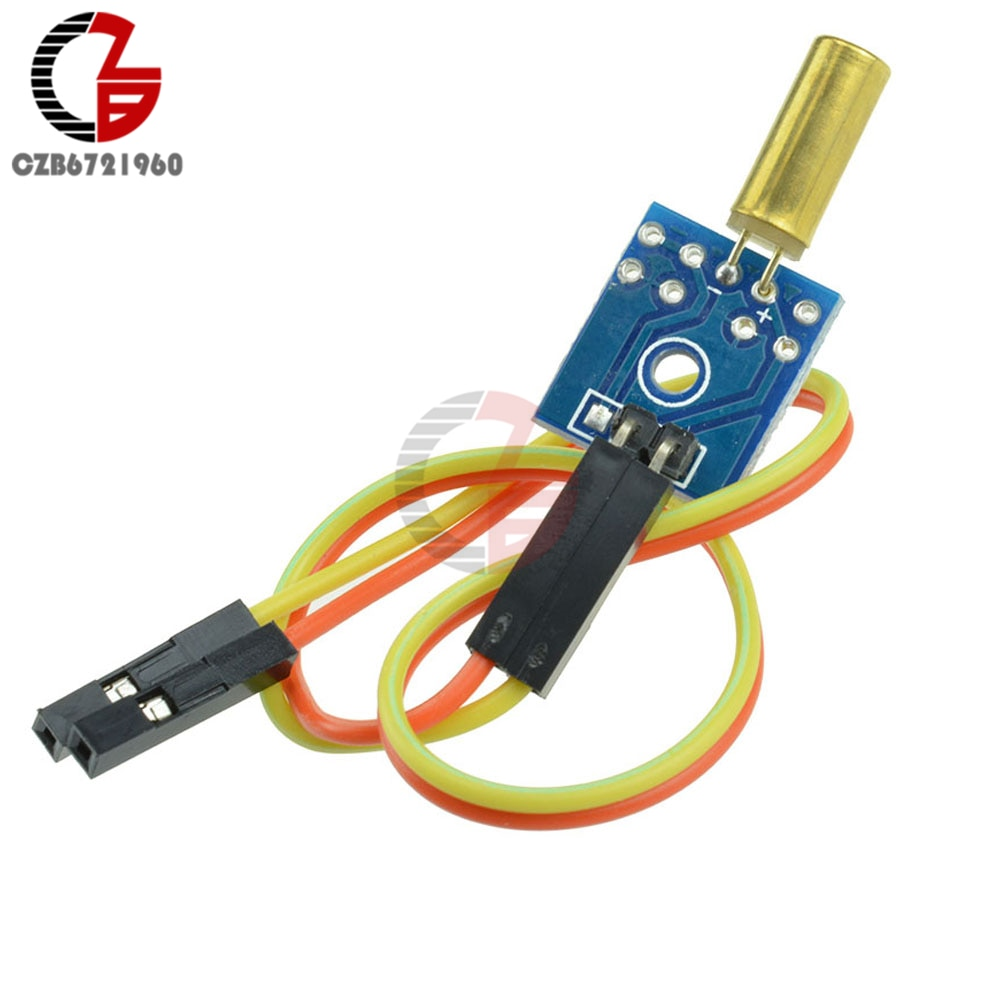 5 uds. Módulo del Sensor de inclinación de 3,3 V-12V placa del Sensor de vibración de ángulo con Cable gratis para Arduino STM32 AVR Raspberry Pi