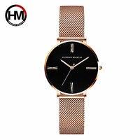 Hannah Martin Luxury Fashion Women Watches Lady Watch Stainless Steel Dress Women Watch Quartz Wrist Watches Present Dropshippin