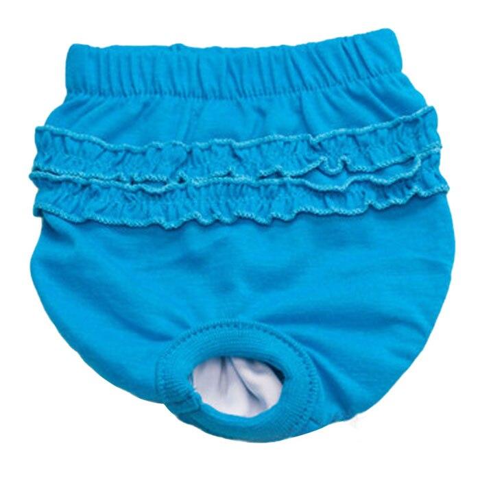 Cuatro colores lindo Braguita de perro de encaje perra en la temporada sanitarias pantalones para perro chica mujer pañales para perros UnderwearWL11