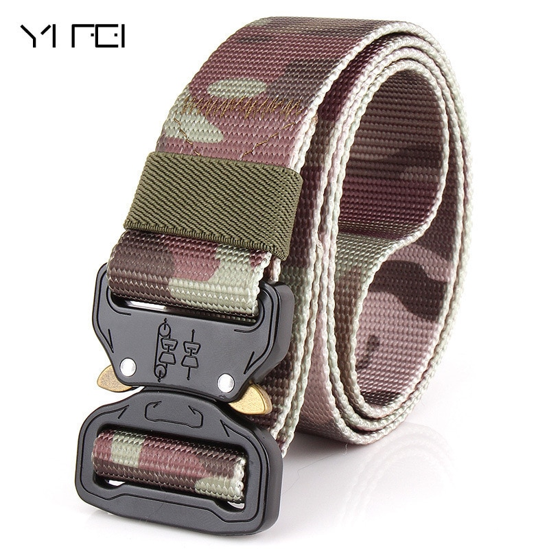 Combat Military Equipment Tactical Belt Men 1000D Nylon Metal Buckle Knock Off Belts Army Soldier Carry Waist Belt