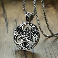 fashion retro ireland hollow concentric knot pendant necklace men sweater chain necklaces for women jewelry charm gift