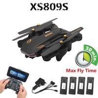 VISUO XS809S складной Дрон для селфи с широкоугольной HD камерой Wi-Fi FPV XS809HW Модернизированный Радиоуправляемый квадрокоптер вертолет мини Дрон