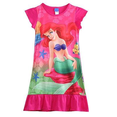 Niños Niñas Ropa sirena Ariel princesa vestido pijama ropa de dormir niños ropa de dormir 6-16 años