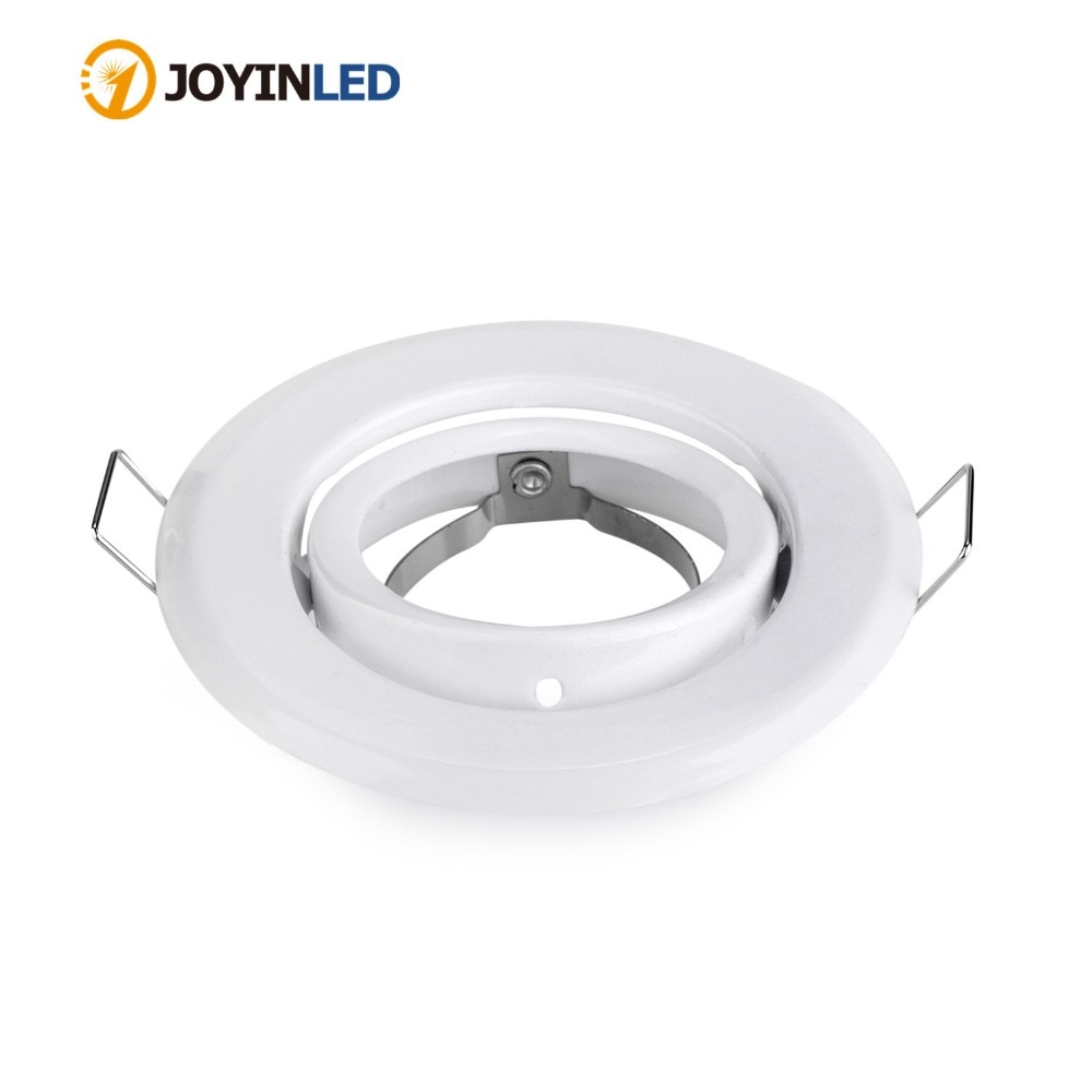10pcs/lot Round White adjustable mr16 gu5.3 gu10 spotlight halogen bulb frame holder downlight ceiling light fixture GU10 MR16