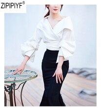 High Quality Fashion OL Elegant tops blouse 2018 autumn women turn down collar blouse 3/4 sleeve slim female blouse C2591