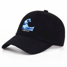 VORON Atmungsaktive Wellen Hysterese dad Caps Strapback Baseball Kappe Bboy Hip-Hop-Hüte Für Männer Frauen Ausgestattet Hut Schwarz rosa weiß