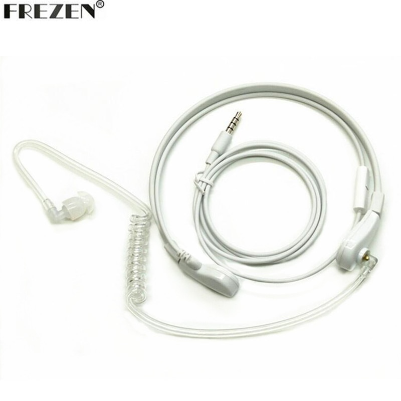 1 Pin 3.5 milímetros Throat Mic Microfone Covert fone de Ouvido Tubo De Ar Do Fone de Ouvido Fones De Ouvido Para Celular Mobile Phone PC