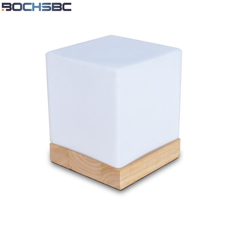 BOCHSBC диммер, светодиодный ночник с твердым базовым стеклом, маленькая настольная лампа для спальни, рядом со светом, кабинет, лампада, Настол...