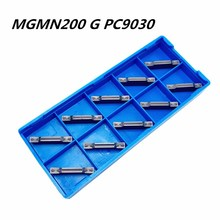 10PCS Tungsten Carbide Slotting Tool MGMN200 G PC9030 2.0mm Carbide Insert Cutting Tool Lathe Tool CNC Machine Tool Milling Tool