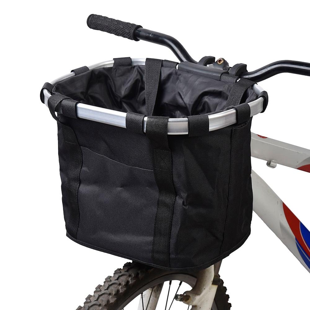 Bolsa de transporte de perro para bicicleta, asiento de perro y gato para mascotas, cesta de bicicleta frontal extraíble, cesta de bicicleta, bolsa de transporte, marco de aleación de aluminio para ciclismo