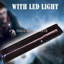 Di alta Qualità Deluxe COS Harri Potter Cho Chang Bacchetta Magica/Bastone HA CONDOTTO LA Luce Lampeggiante/Contenitore di Regalo Nero/ un Più Batteria di Ricambio