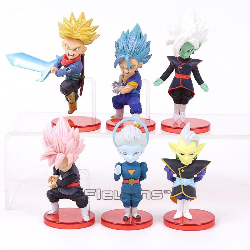 Troncos de Dragon Ball Super vol.7 Zamasu Super Saiyan Vegetto Subiu Goku Preto Grande Sacerdote PVC Figuras Brinquedos 6 pçs/set 8 ~ 9 cm