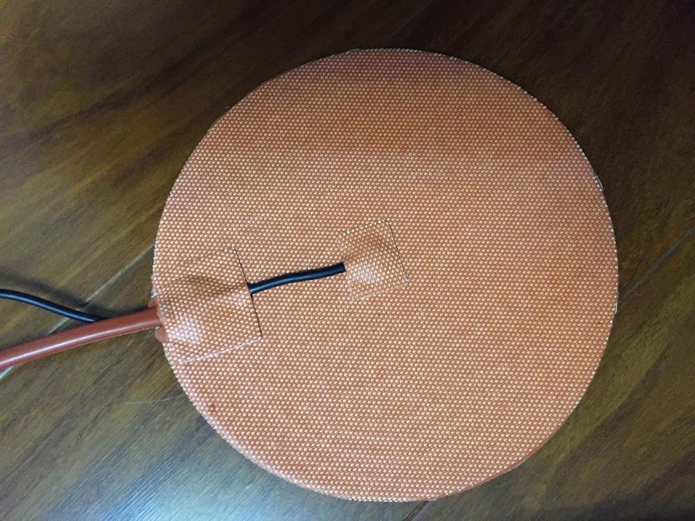 heater plate Gomma di silicone 3d stampante riscaldatore 110v 400 w diametro 310mm 3m adesivo 100 k termistore industrial heater