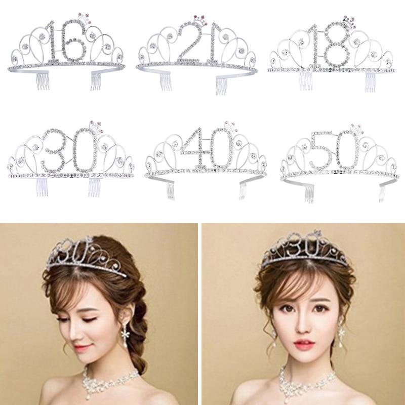Acessórios de cristal da joia do cabelo da coroa da princesa da tiara do aniversário para a festa de casamento do aniversário 16-100th fornecedor