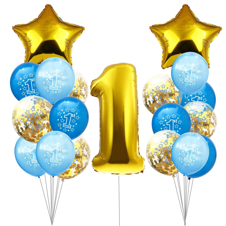 ZLJQ 19p 1st Birthday  Boy And Gril  Baby Shower Boy  Baby Balloon 1  Happy Birthday Party Decorations